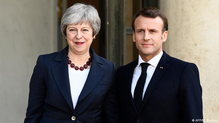 Frankreich Präsident Macron trifft britische Premierministerin Theresa May (AFP/M. Bureau)