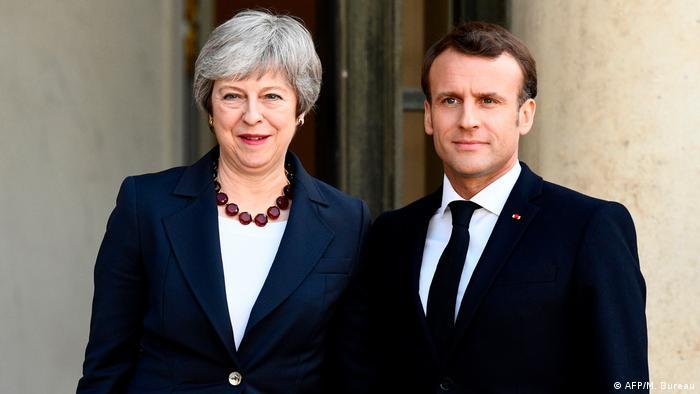 Frankreich Präsident Macron trifft britische Premierministerin Theresa May