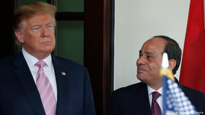 USA Washington | Abdel Fatah Al-Sisi, Präsident Ägypten & Donald Trump (Reuters/C. Barria)