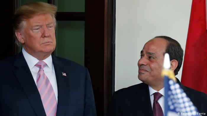 USA Washington | Abdel Fatah Al-Sisi, Präsident Ägypten & Donald Trump (Reuters/C. Barria)