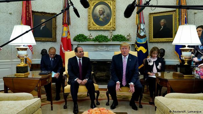 USA Washington | Abdel Fatah Al-Sisi, Präsident Ägypten & Donald Trump (Reuters/K. Lamarque)