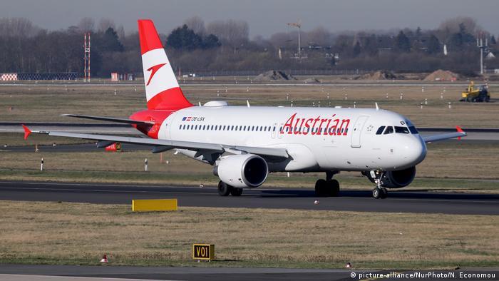 An Austrian Airlines plane