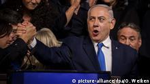 Parlamentswahl in Israel Wahlparty Netanjahu Jubel