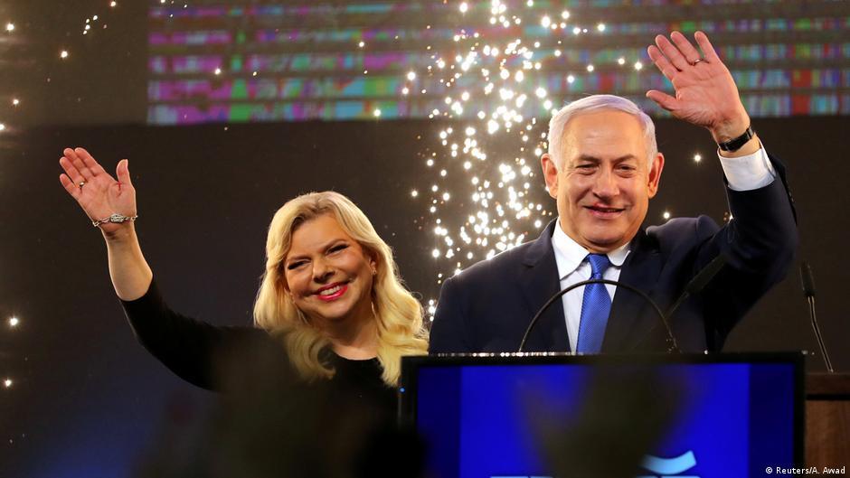 Benjamin Netanjahu mit Ehefrau Sara