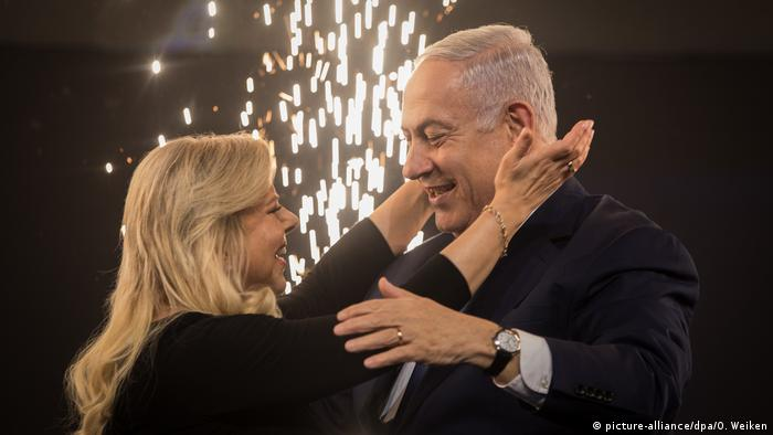 Benjamin Netanyahu and his wife (picture-alliance/dpa/O. Weiken)