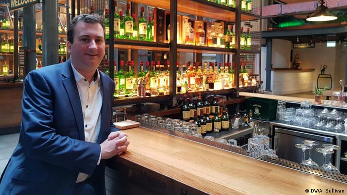 William Lavelle, head of the Irish Whiskey Association, at the Jameson Distillery in Dublin, Ireland