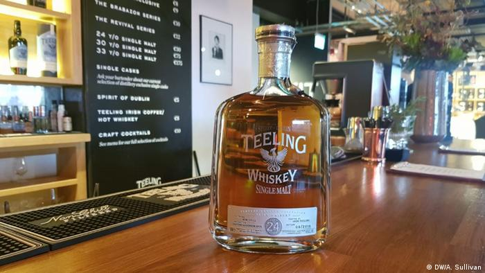 A bottle of Teeling's 24-year-old Vintage Reserve, which recently won the World's Best Single Malt at the World Whiskies Awards