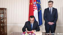 10.04.2019., Croatia, Zagreb - Meeting of the Prime Minister Andrej Plenkovic and head of the State Council of the People's Republic of China Li Keqiang. Photo: Luka Stanzl/PIXSELL |