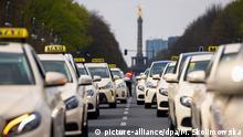 Deutschland Protest von Taxifahrern in Berlin
