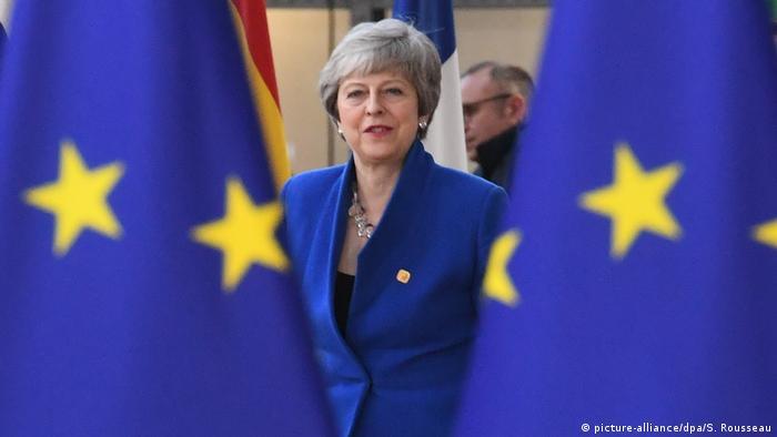 Belgien Brexit-Gipfel in Brüssel | Theresa May, Premierministerin von Großbritannien (picture-alliance/dpa/S. Rousseau)