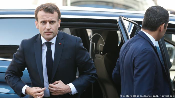 Belgien Brexit-Gipfel in Brüssel | Emmanuel Macron, Präsident von Frankreich