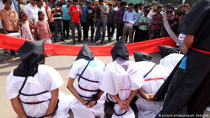 Bangladesch Protest der Organisation Magic Movement