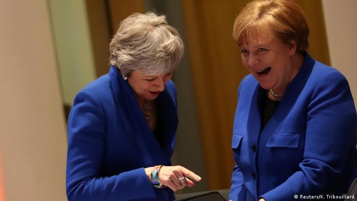 Belgien Brexit-Gipfel in Brüssel | May & Merkel