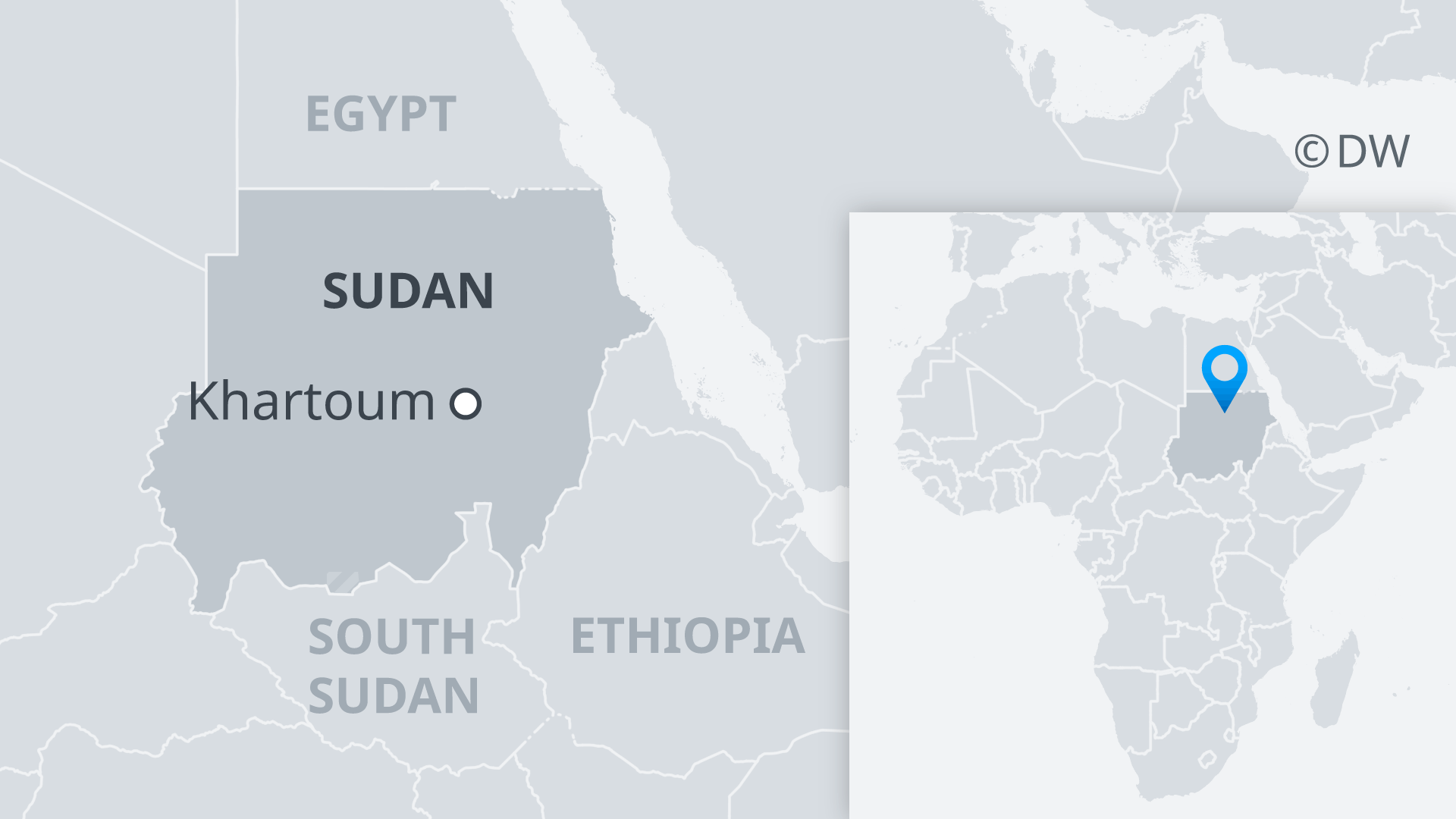Map showing Sudanese capital Khartoum