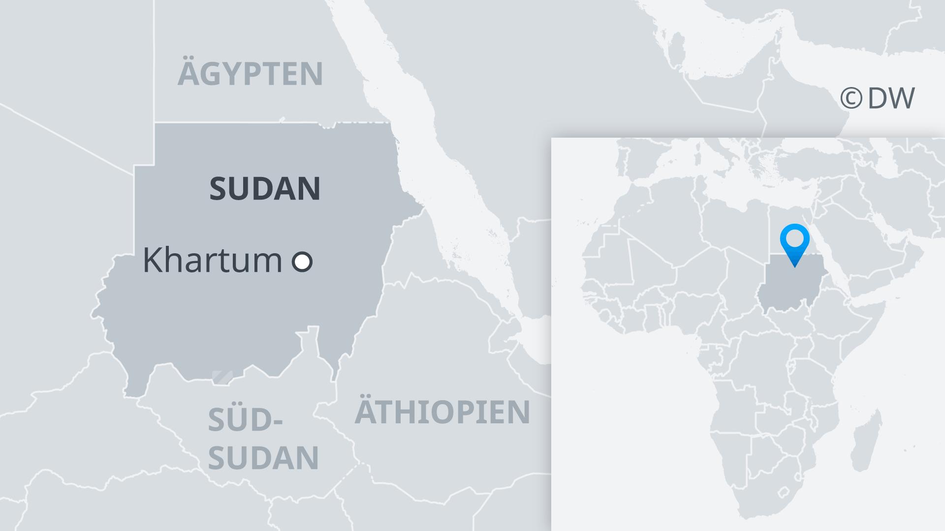 Karte Sudan DE