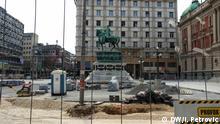 Serbien Bauarbeiten in Belgrad