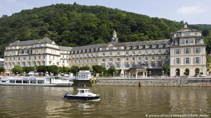The river-side Kurhotel an der Lahn in Bad Ems in Rhineland-Palatinate,Germany