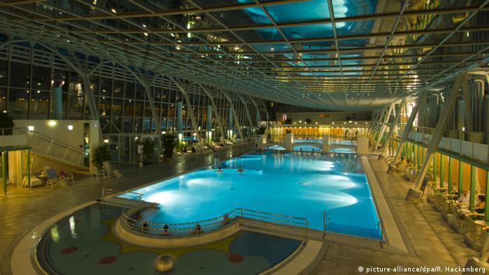 The main bath at the Römertherme spa, in Baden bei Wien, Austria