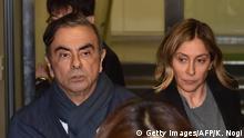 Ehemaliger Nissan Vorsitzender Carlos Ghosn mit Frau Carole Ghosn