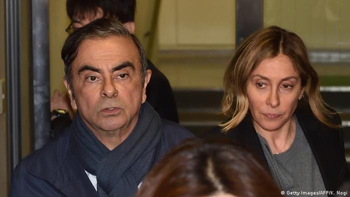 Carlos Ghosn and his wife Carole