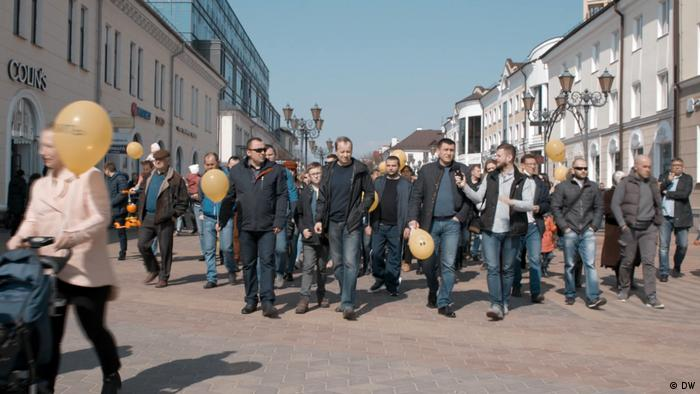 Demonstration gegen Batterie-Fabrik in Brest Weißrussland Videostills