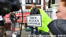 London Botschaft Ecuador Protest nach Festnahme von Julian Assange