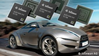 Немецкая компания Infineon рекламирует свои чипы для автомобилей