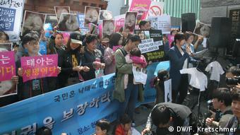 Südkorea Demonstration Abtreibungsgesetz Verfassungsgericht
