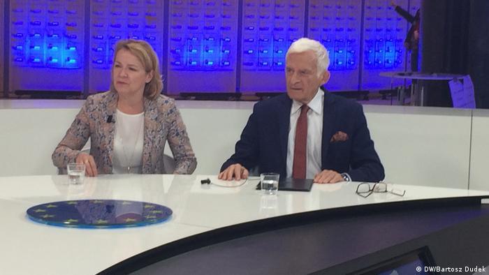 Europosłanka Ulrike Trebesius i Jerzy Buzek