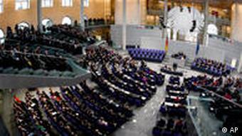 Plenarsaal in Berlin (Foto: AP)