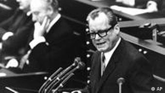 Former West German Chancellor Willy Brandt