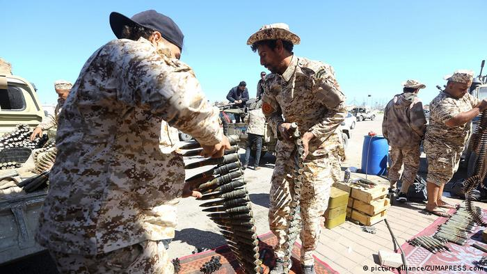 Libyan government forces prepare for an operation against Khalifa Haftar