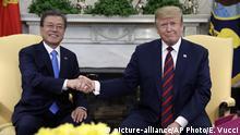USA Präsident Donald Trump trifft den südkoreanischen Präsidenten Moon Jae-In