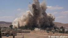 Syrien, Tadmur-Gefängnis, nachdem es in Palmyra von der Gruppe Islamischer Staat gesprengt und zerstört wurde