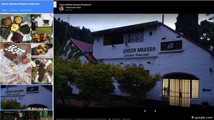 Screenshot von Google Queen Makeda Ethiopian Restaurant