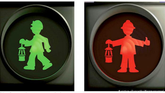 Светофорный человечек - шахтер