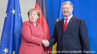 Ангелы Меркель и Петр Порошенко