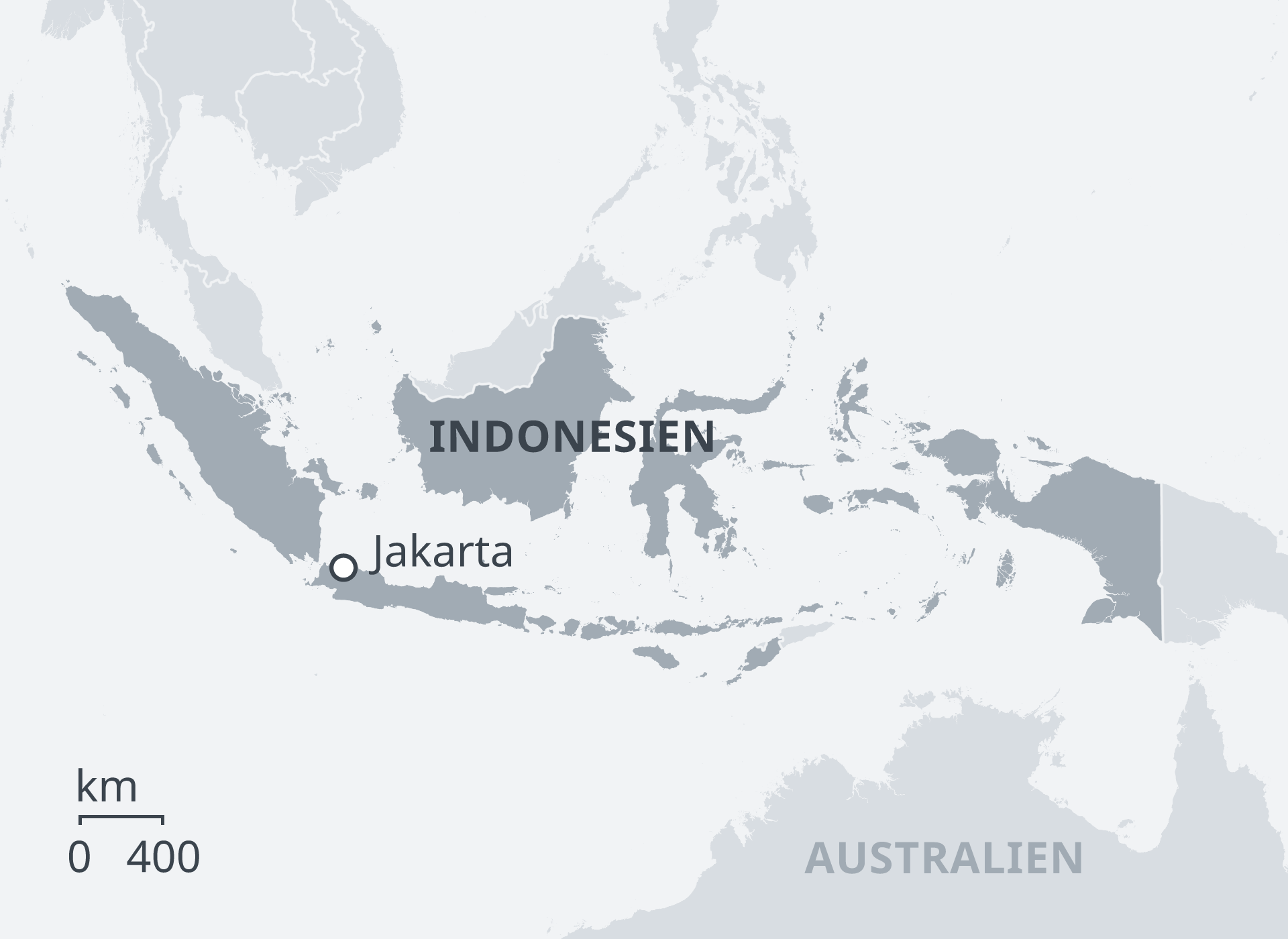 Karte Indonesien DE