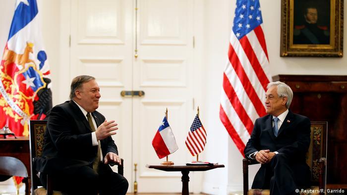 US-Außenminister Mike Pompeo besucht Chiles Präsident Sebastian Pinera (Reuters/R. Garrido)