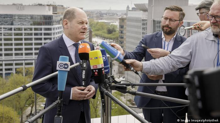 USA IWF in Washington | Olaf Scholz, Bundesfinanzminister (Imago Images/photothek)