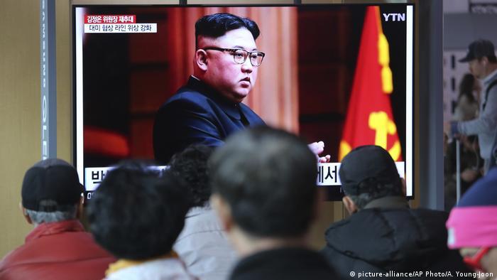 Südkorea TV-Nachrichtensendung über Kim Jong-un, Machthaber Nordkorea (picture-alliance/AP Photo/A. Young-Joon)