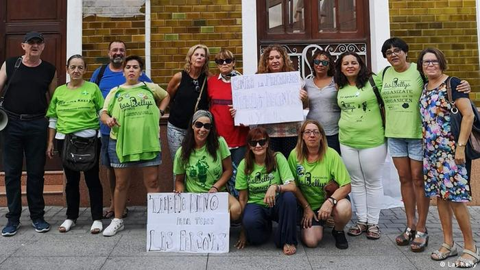 Las Kellys activists potesting in Spain
