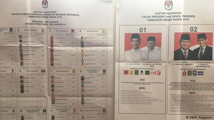 Deutschland Frankfurt Indonesische Wahl im Haus am Dom (DW/G. Anggasta)