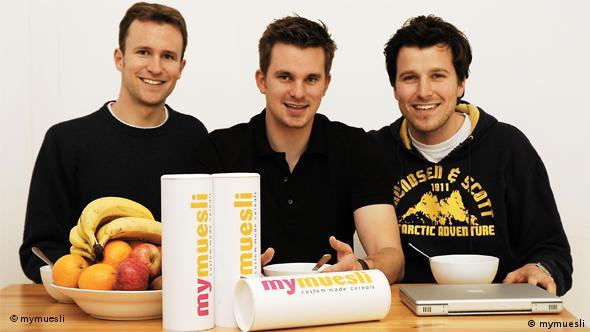 Основатели компании mymuesli.com Филипп Крайс, Хубертус Бессау Макс Виттрок