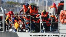 Malta Flüchtlinge in Valletta