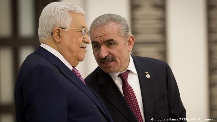 Mahmoud Abbas and Mohammad Ishtayeh