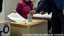 Finnland Helsinki Parlamentswahl