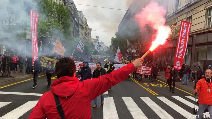 Serbien Belgrad - Anti-Regierungsprotest: Protest All As One