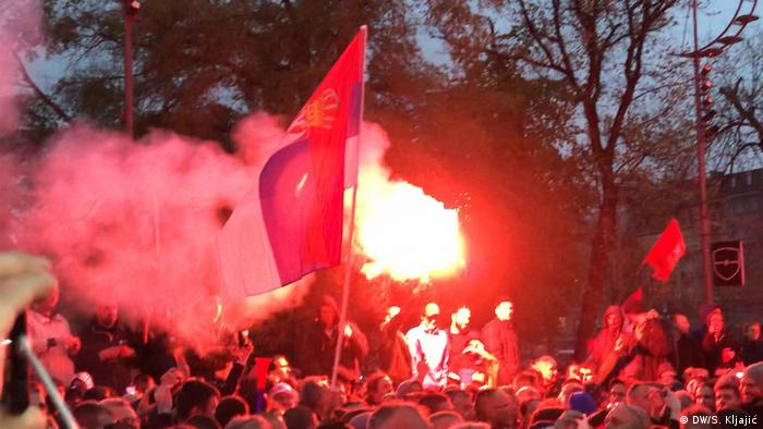 Serbien Belgrad - Anti-Regierungsprotest: Protest All As One (DW/S. Kljajić)