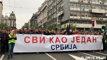 Serbien Belgrad - Anti-Regierungsprotest: Protest All As One